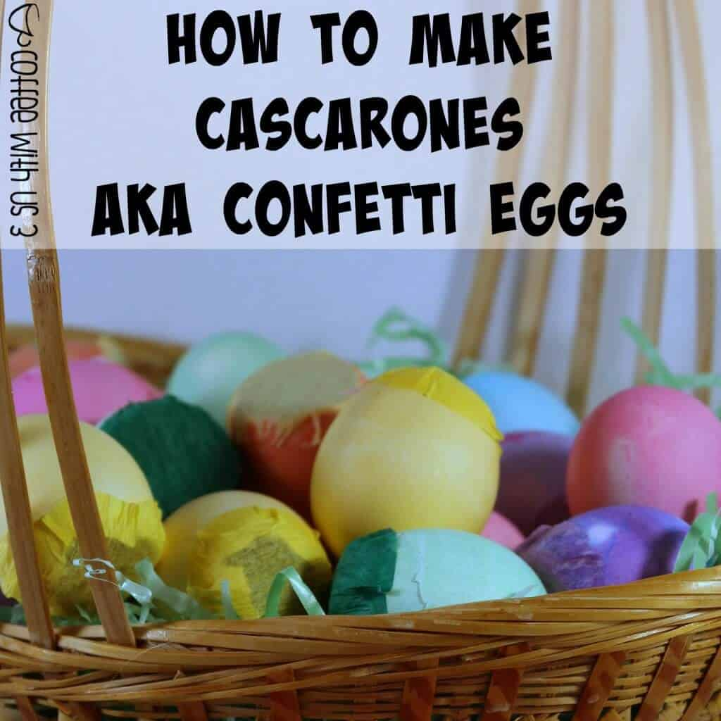 How to Make Cascarones | Your family will love making these & cracking them on each other at Easter! Click to learn how to make cascarones aka confetti eggs for yourself.