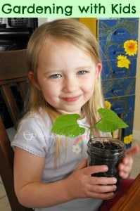 Gardening with kids- Great way to get them to eat their veggies! #gardening #kids