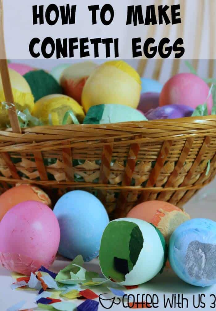 How to Make Confetti Eggs | Your family will love making these & cracking them on each other. This is a great kids activities & craft for Easter! Click to learn how to make cascarones aka confetti eggs for yourself.
