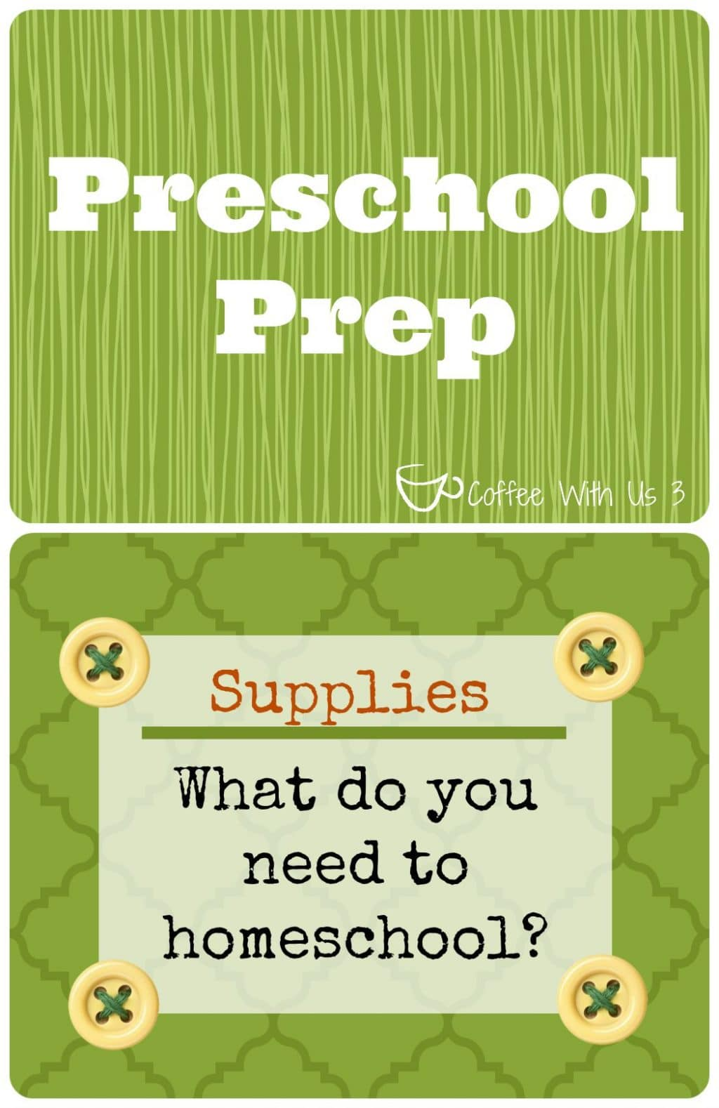 Preschool Prep: Supply List | Coffee With Us 3