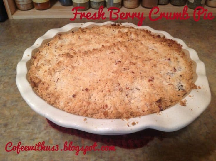 Fresh Berry Crumb Pie