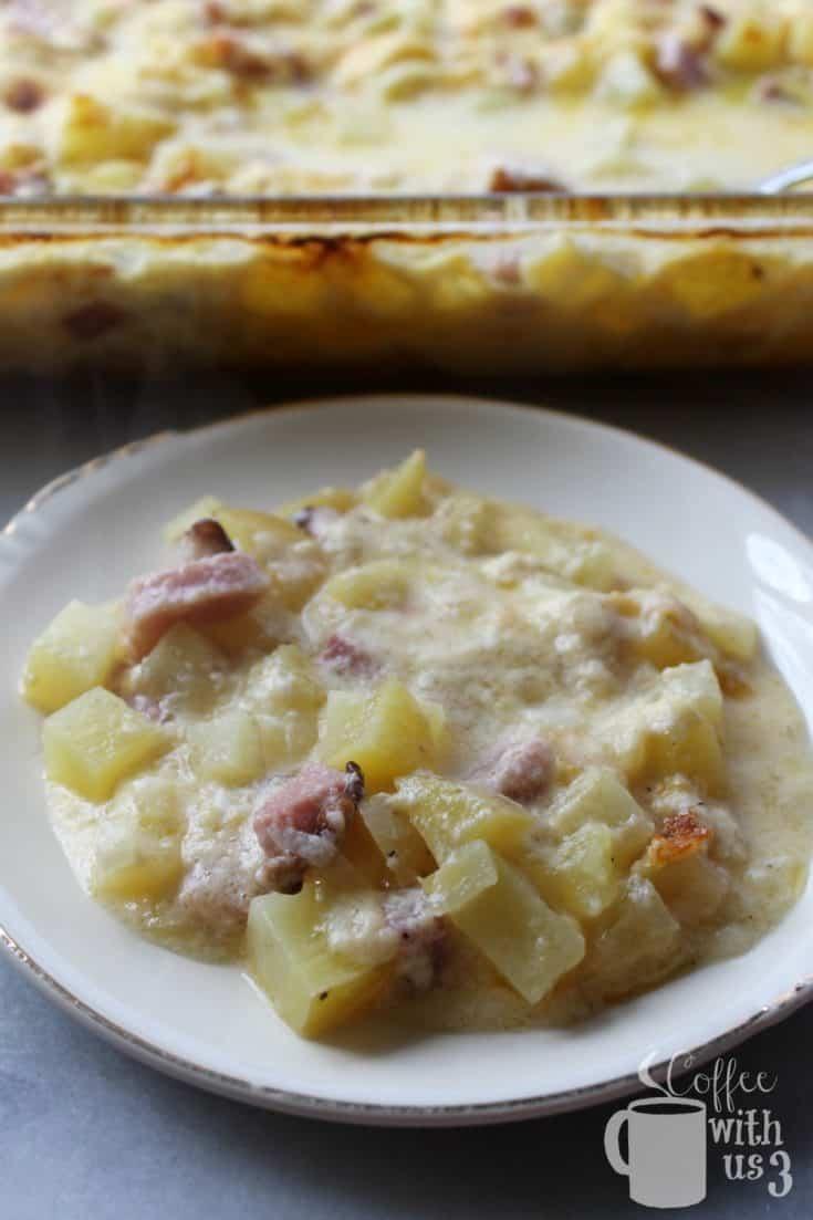Cheesy Potato and Ham Casserole