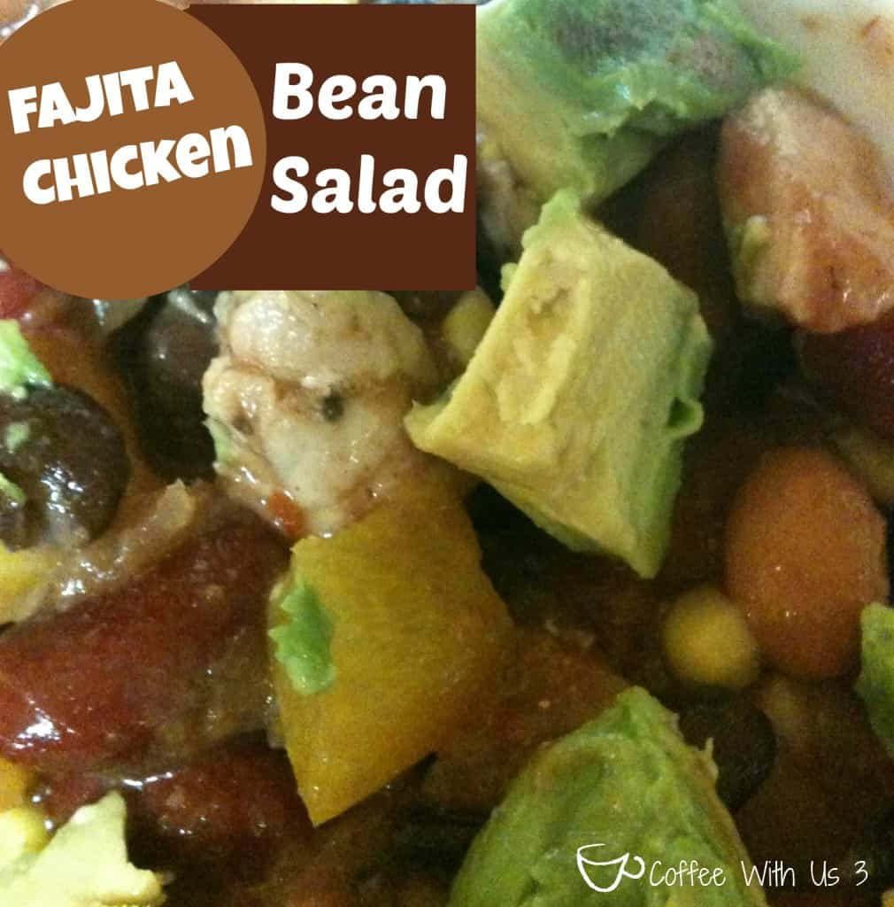 Fajita Chicken Bean Salad by Coffee With Us 3