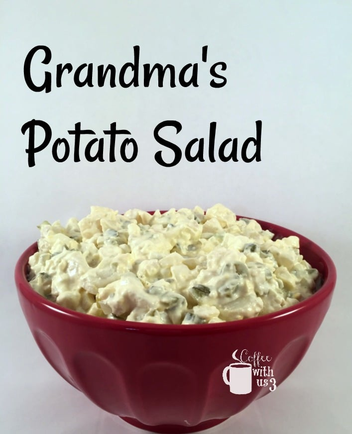 Grandma's Potato Salad is a wonderful no mustard potato salad.