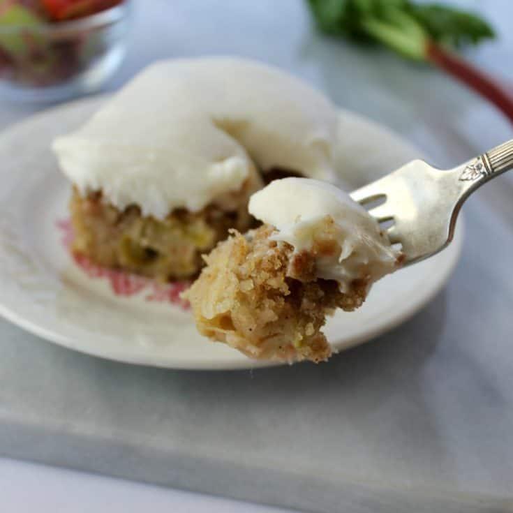 Rhubarb Cake Bars