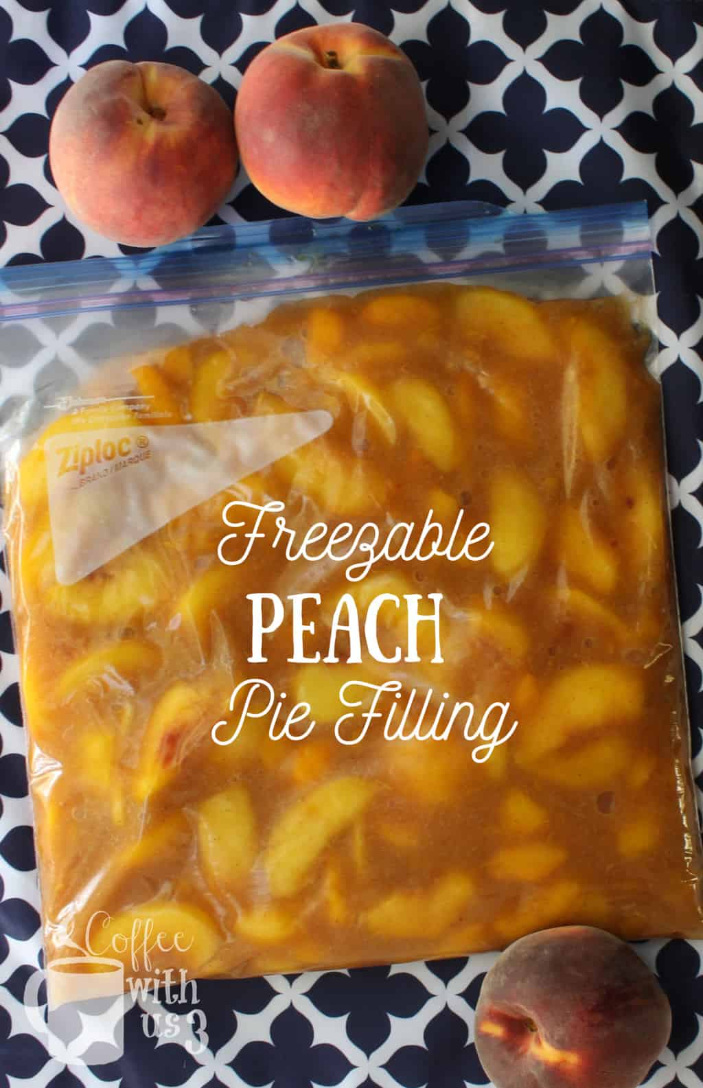 Preserve your delicious peaches to use all winter long with this freezable Peach Pie Filling recipe.