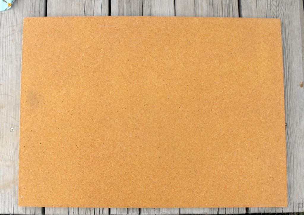15 Minute Cork Board Makeover