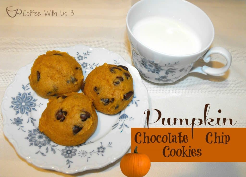 Delicious Pumpkin Chocolate Chip Cookies are the perfect fall snack!