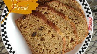 Pumpkin Raisin Bread with Greek Yogurt