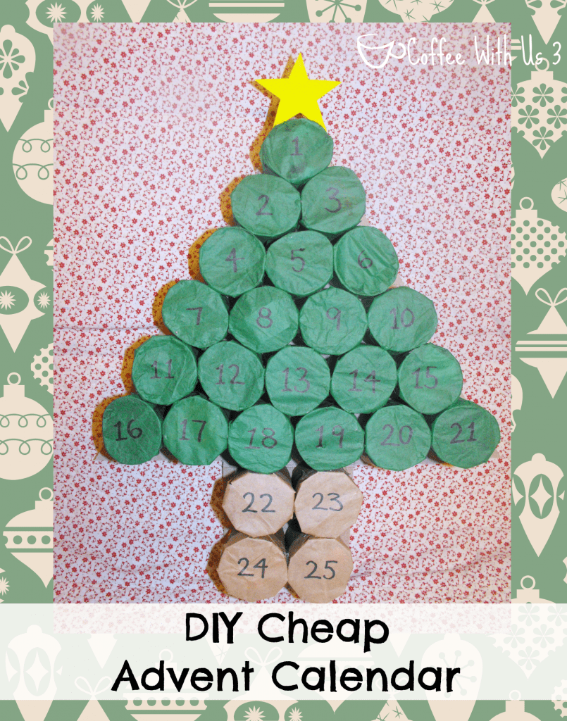 Calendar Advent Diy : Diy cheap advent calendar coffee with us