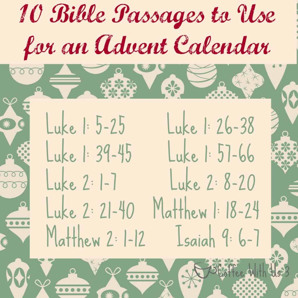DIY Advent Calendar Verses