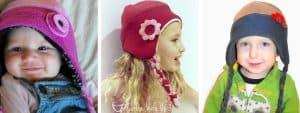 fleece hat collage