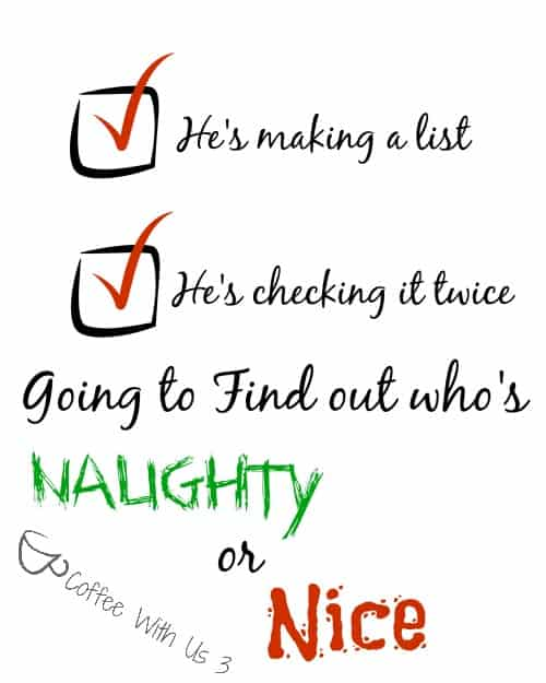Naughty or Nice printable