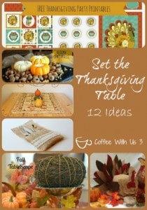 set the thanksgiving table
