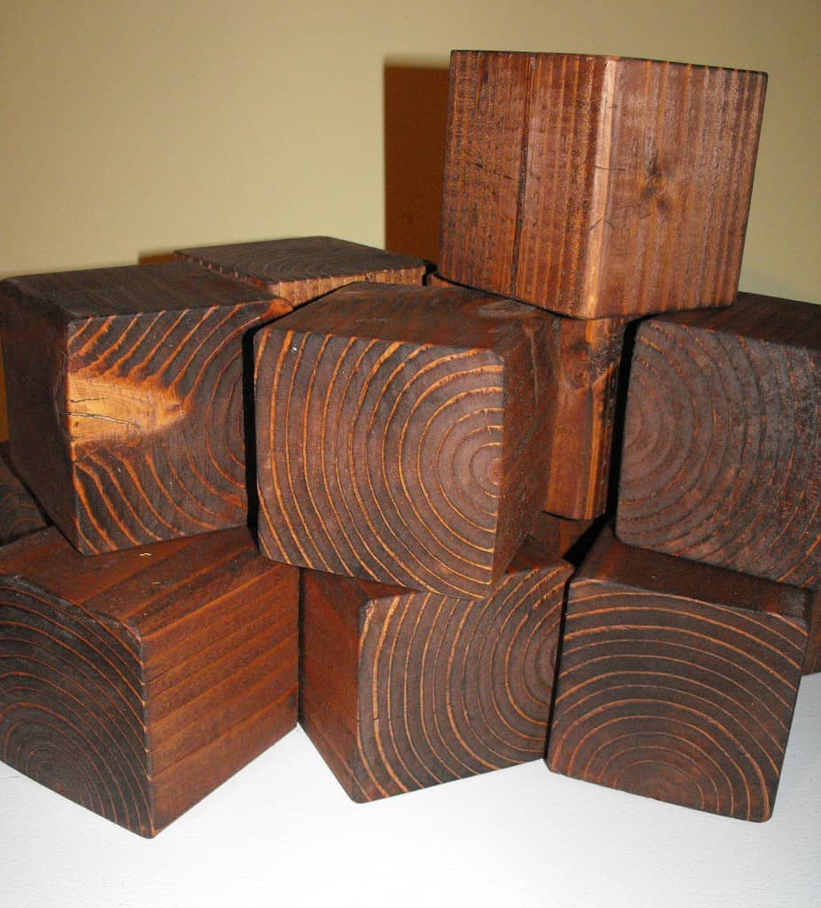 stained blocks