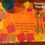 Thanksgiving Placemats for Kids with Printable