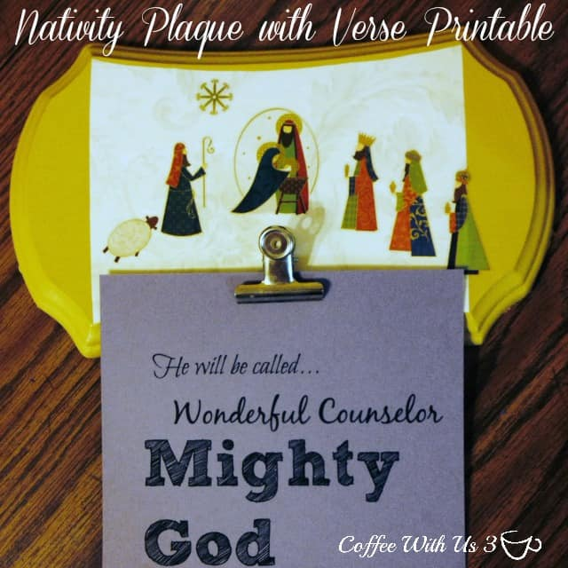 Nativity Plaque with Verse Printable
