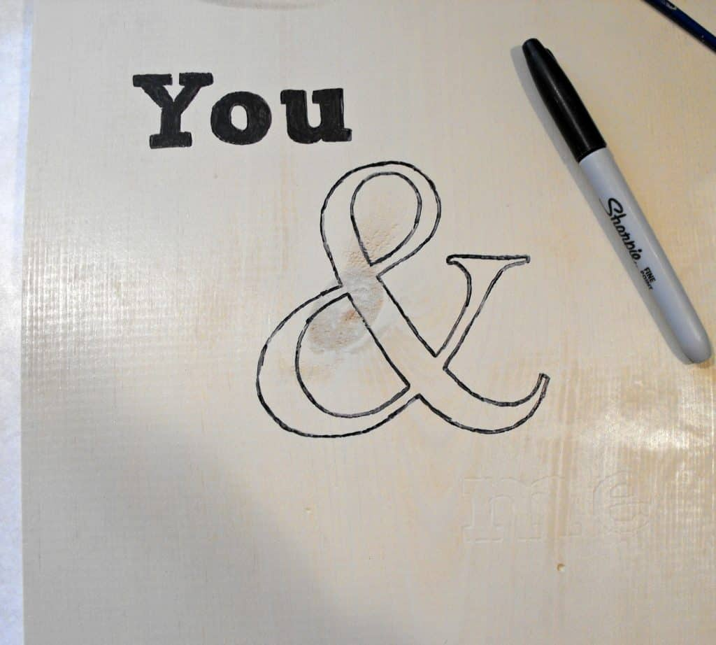Unfinished Ampersand Art