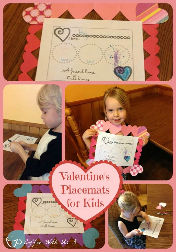 Valentine's Placemats for Kids