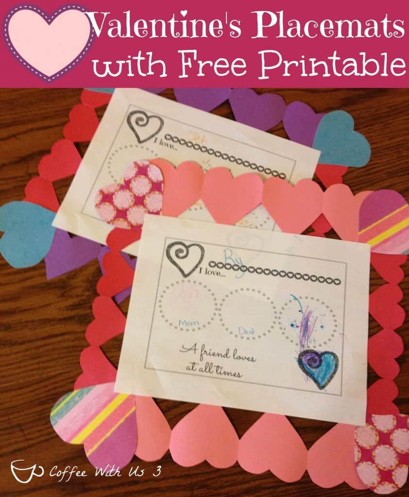 Valentine's Placemats with Free Printable