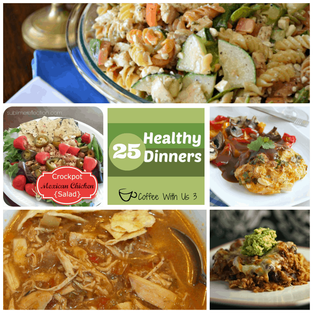 25 Healthy Dinners | Looking to eat better but still want dishes your whole family will eat? These 25 options will soon become family favorites. Click for the recipes.