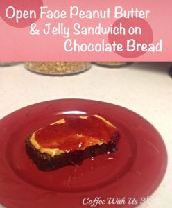 PBJ on Chocolate Bread