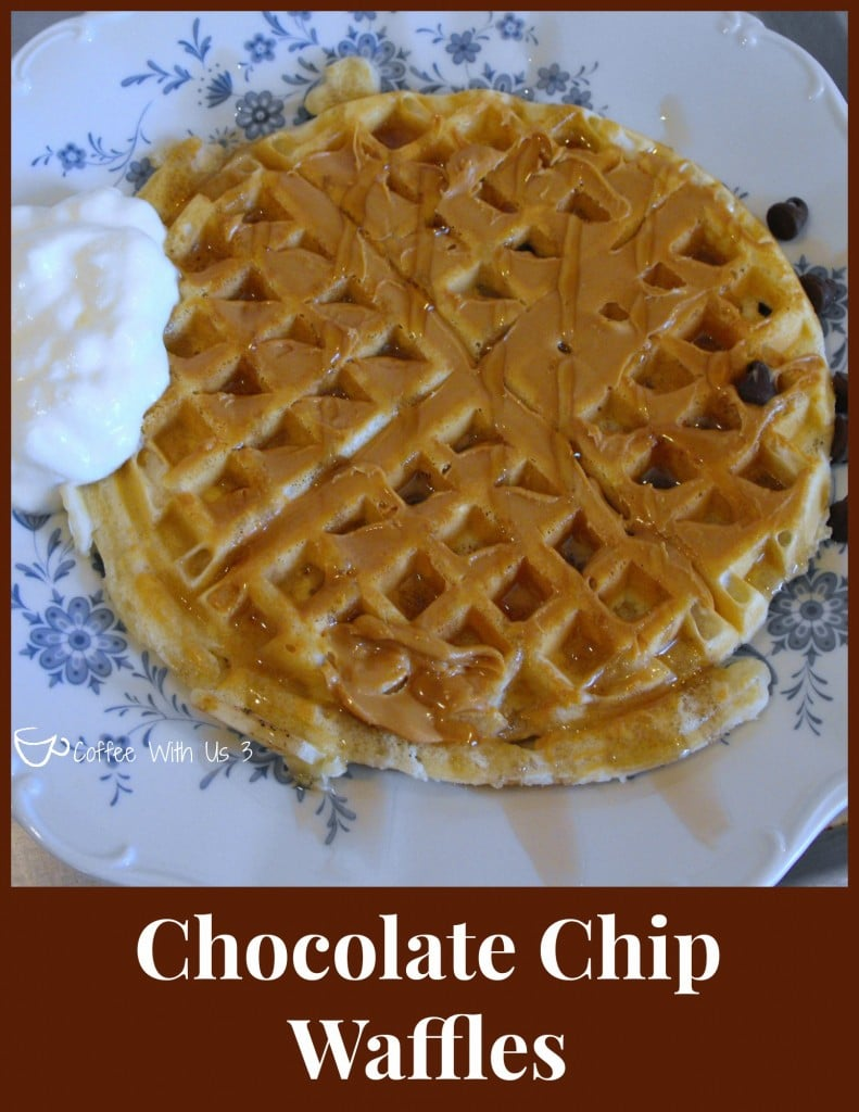 Chocolate Chip Waffles with PB