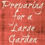 Preparing For A Large Garden