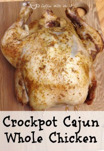 Whole chicken cooked with cajun seasoning