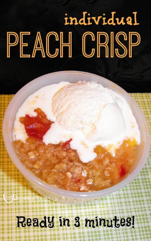 Individual Peach Crisp in 3 Minutes