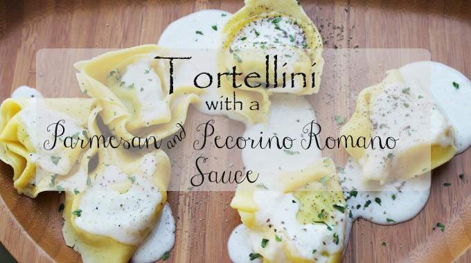Tortilini with a Parmesan & Pecorino Romano sauce