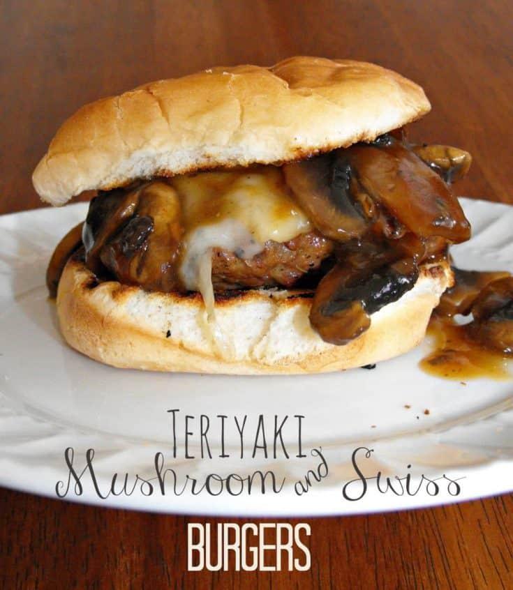 Easy Teriyaki Mushroom and Swiss Burgers