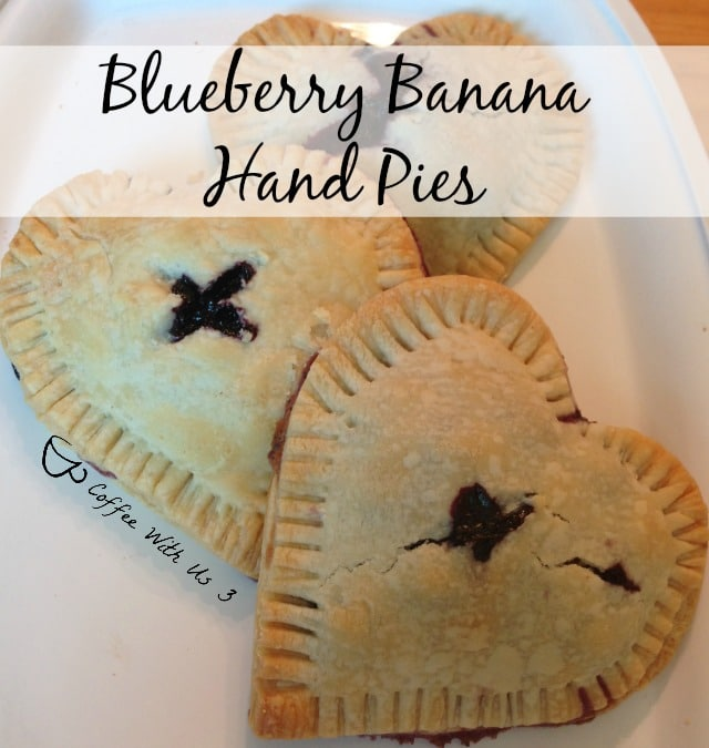 Blueberry Banana Hand Pies - Blueberry & Banana flavors in a personal little pie.