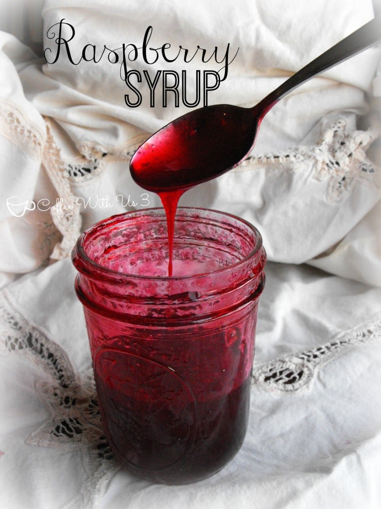 Raspberry Syrup- delicious and easy! #raspberry #recipes