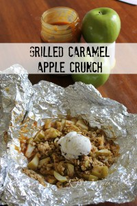 Grilled Caramel Apple Crunch is a fun dessert for on the grill or camping!