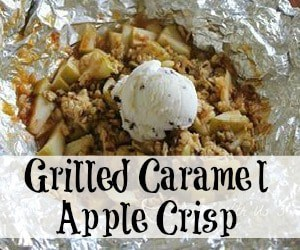 Perfect Early Fall Dessert Grilled Caramel Apple Crunch