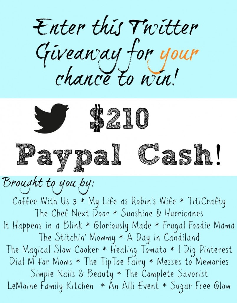Enter to win $210 in cold hard PayPal cash!