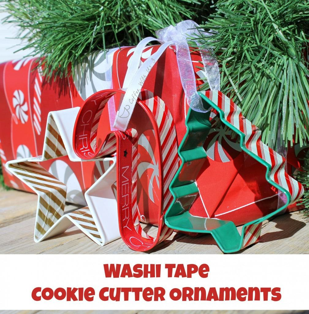 Make your own Washi Tape Cookie Cutter Ornaments for a fun but simple gift!