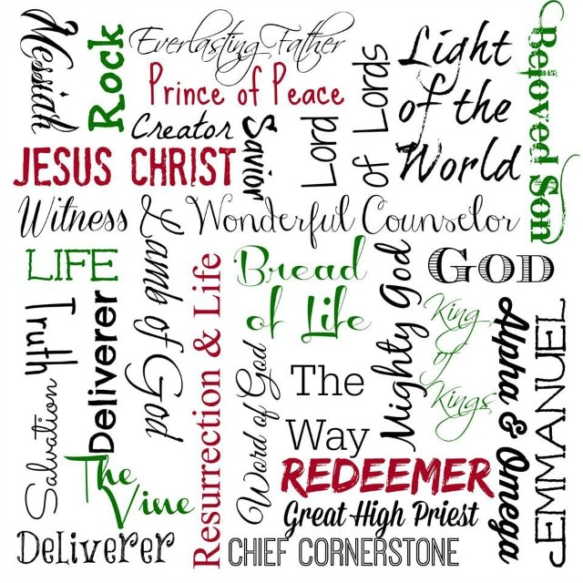 Names of Jesus Subway Free Printable! Plus check out the other great printables for Thanksgiving & Christmas!