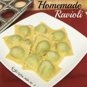 Homemade Ravioli uncooked
