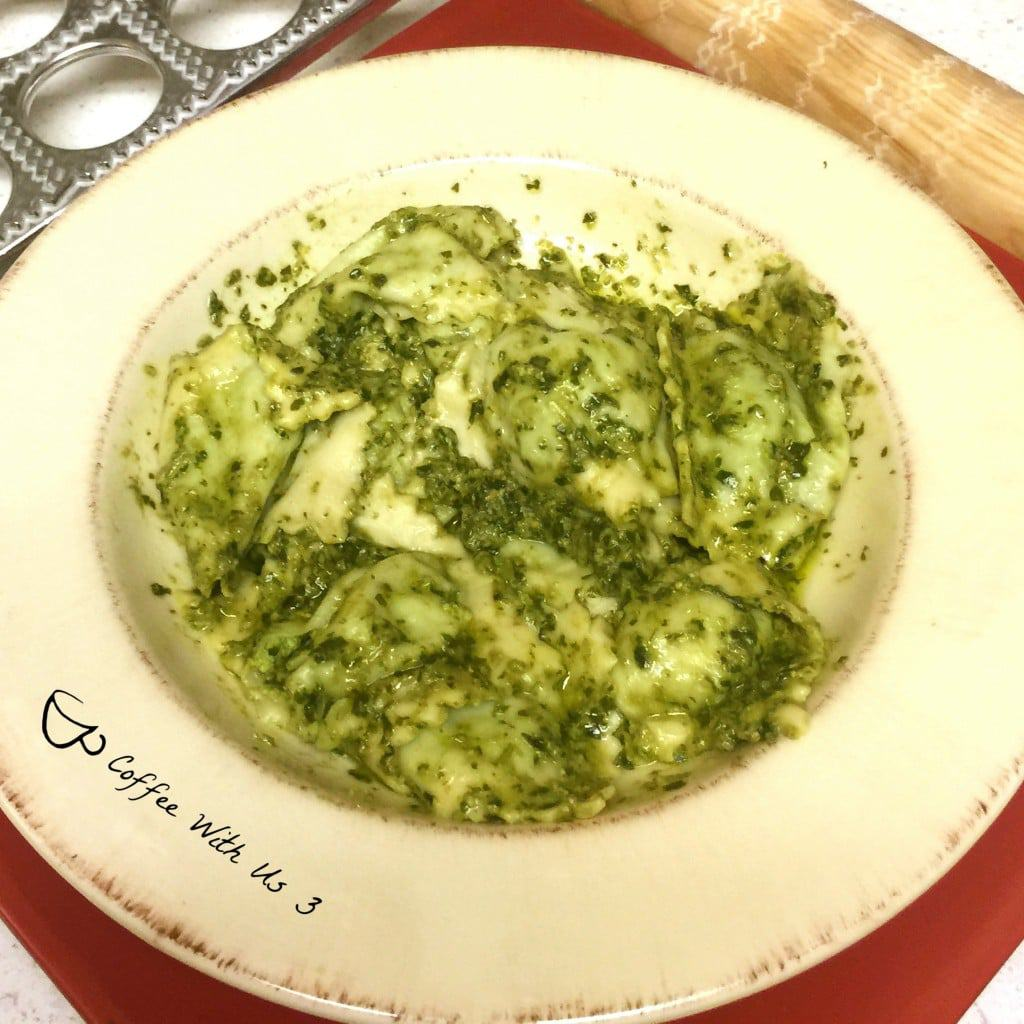 Homemade Ravioli with pesto