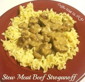 Stew Beef Stroganoff