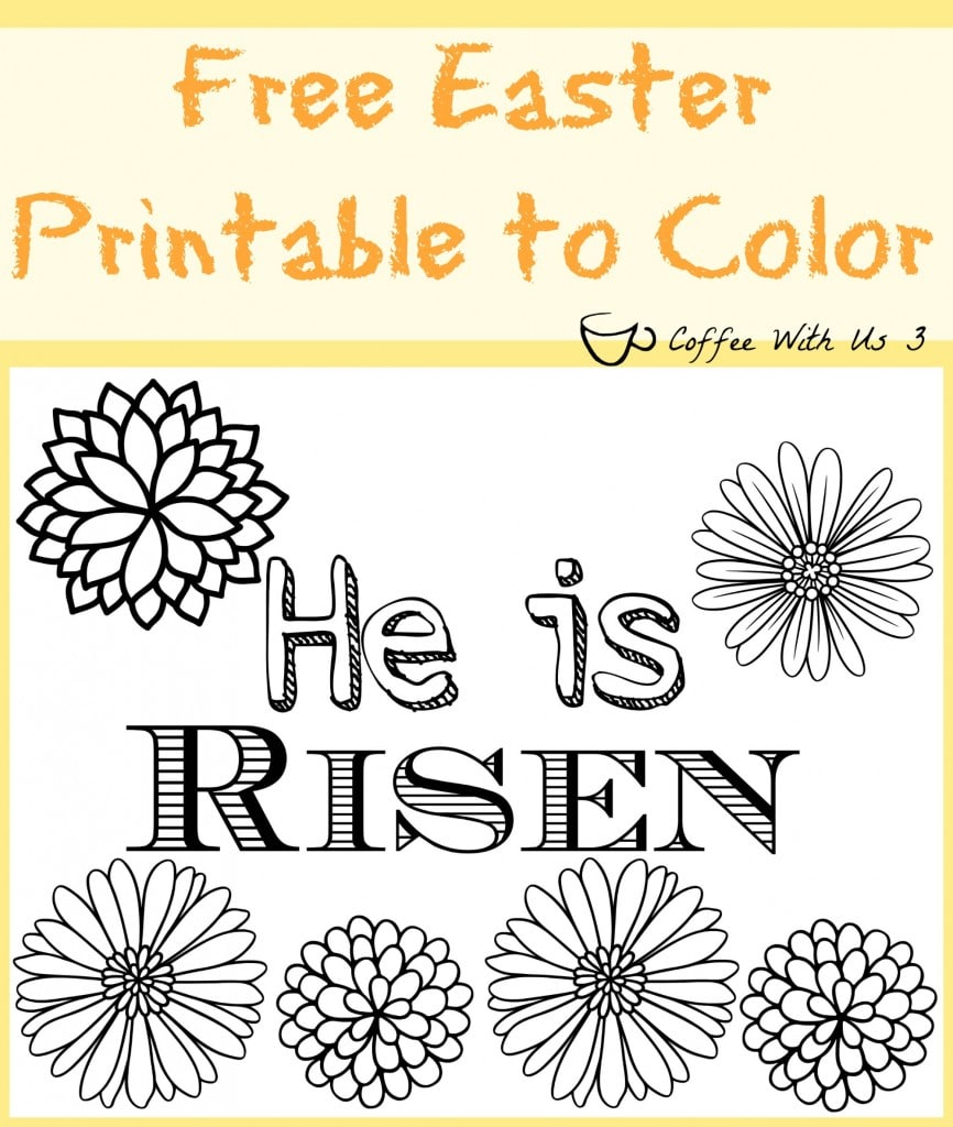 Easter Risen Printable