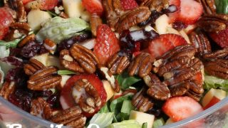 Fruity Green Salad with Honey Vinaigrette