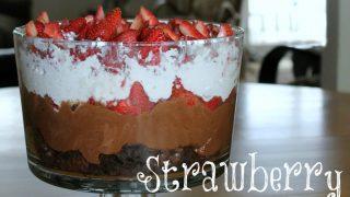 Strawberry Brownie Trifle