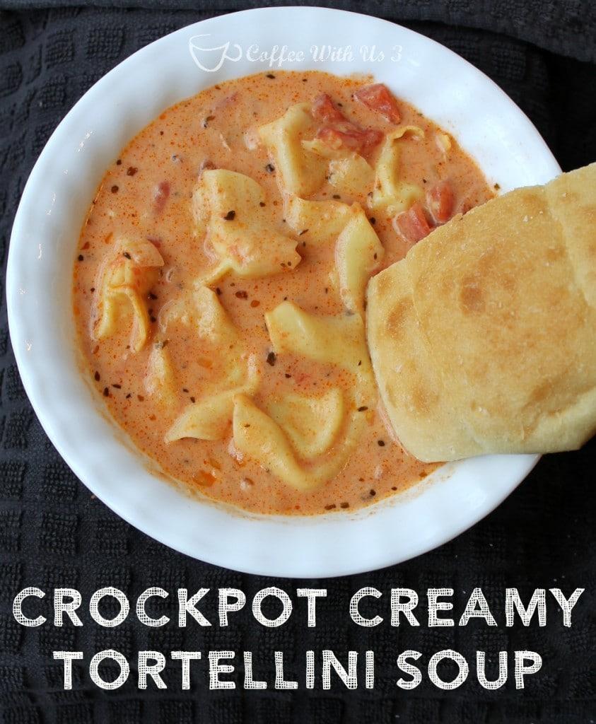 Crockpot Creamy Tortellini Soup
