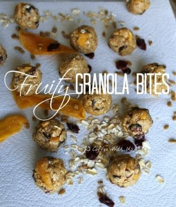 Fruity Granola Bites are delicious and healthy snacks!