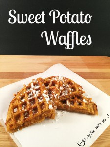 Sweet Potato Waffles | These are a great twist on plain ole waffles. They have great flavor with the nutmeg, cinnamon, and ground cloves. Try are great for any breakfast or for a special brunch. Click the link for the recipe.
