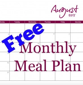 Free Monthly Meal Plan August - Coffee With Us 3