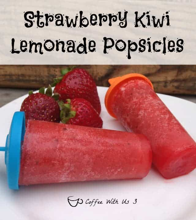 Strawberry Kiwi Lemonade Popsicles - Fresh fruit and lemonade combine for a refreshing & yummy popsicle.